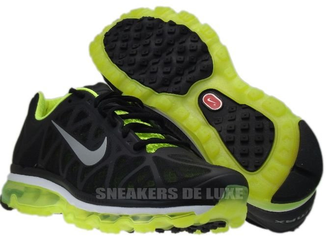 ... 429889-007 Nike Air Max 2011+ Black/Metallic Cool Grey-Volt ...