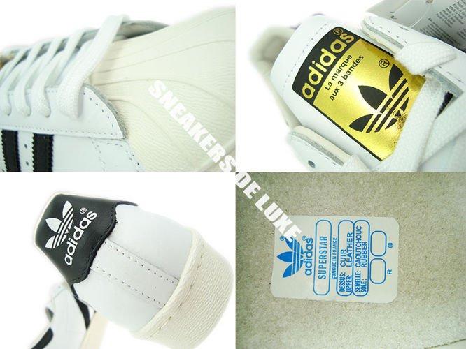 g61070 adidas superstar degli anni ottanta bianco / nero / originali in gesso g61070