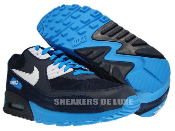air max 90 blue black and white