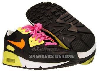 309298-002 Nike Air Max 90 Black/Citcuit Orange-Lemon Frost