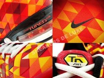 336155-761 Nike Tuned X 10 Sunset/Deep Burgundy-Black