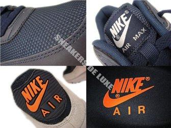 542452-480 Nike Air Max 90 Premium Reflect Dark Obsidian/Total Orange-Neutral Grey