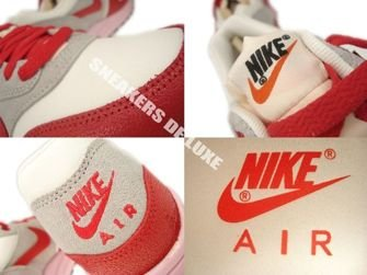 555284-103 Nike Air Max 1 Vintage Sail/Hyper Red-Street Grey-Iced Carmine