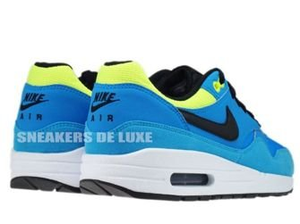555766-401 Nike Air Max 1 Blue Hero/Black-Volt-Current Blue