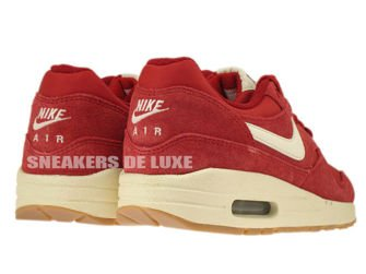 555766-600 Nike Air Max 1 Gym Red / Sail - Black - Black