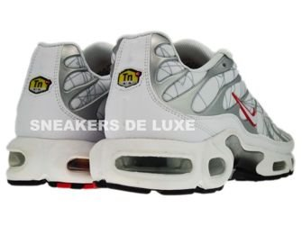 604133-113 Nike Air Max Plus TN 1 White/Silver-Varsity Red