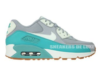 616730-032 Nike Air Max 90 Wolf Grey / Barely Green - Washed Teal