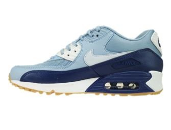 616730-402 Nike Air Max 90 Grey/Pure Platinum-Loyal Blue-Summit White