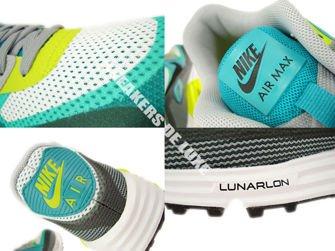 636229-103 Nike Air Max Lunar 90 C3.0 White/Black-Turbo Green