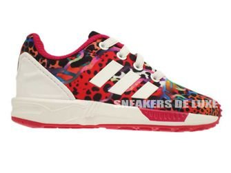 M19403 adidas ZX Flux EL Infants Running White / Running White / Pink Buzz