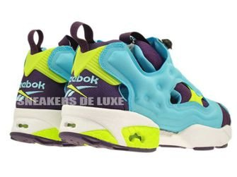 M46892 Reebok Insta Pump Fury Blue/Purple/Yellow/White