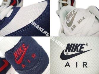 Nike Air Max 1  White/Gym Red/Thunder Blue