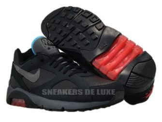 Nike Air Max 180 Black/Dark Greyu2013Alarming Redu2013Chlorine Blue 310155 ...