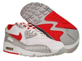 Nike Air Max 90 White/Team Orange-Neutral Grey 309299-121
