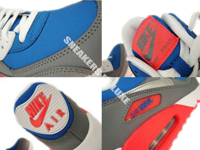 307793 407 Nike Air Max 90 Military Blue Metallic Silver