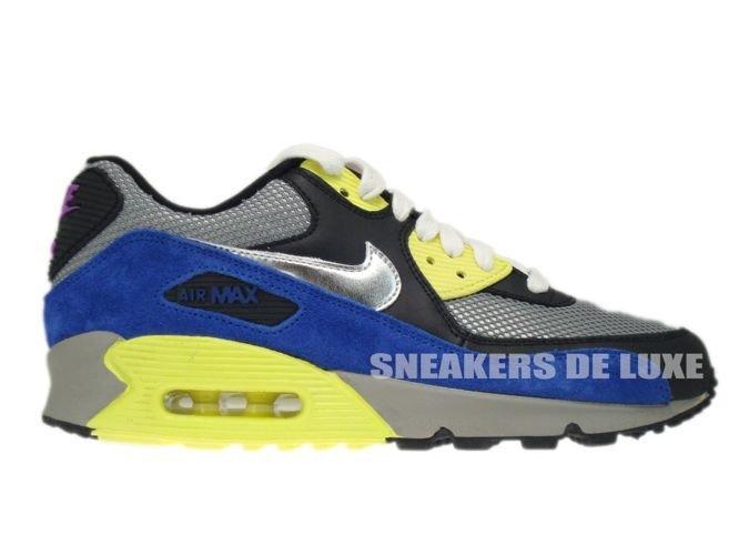 325213-025 Nike Air Max 90 Medium Grey Silver-Black-Volt 325213-025 ... 733005d15