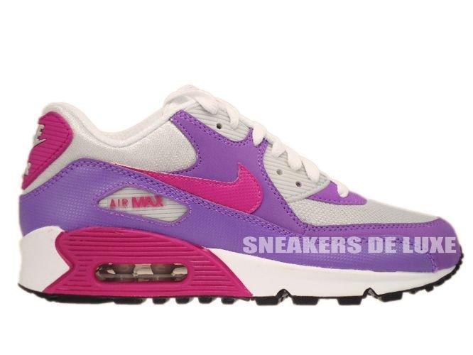 345017-016 Nike Air Max 90 Pure Platinum/Fusion Pink/Laser Purple ...
