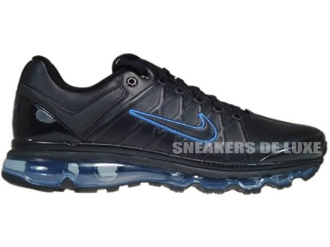 hot sale online f5778 25874 366718-008 Nike Air Max 2009+ Black Black Blue Spark ...
