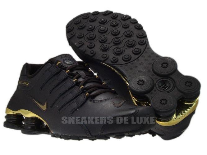 fc77b3a6367922 378341-200 Nike Shox NZ EU Velvet Brown   Metallic Gold 378341-200 ...