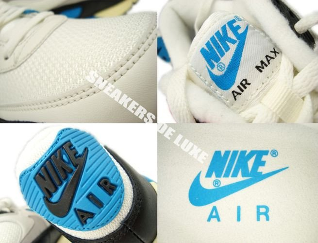 the latest 8346e 2319b ... 543361-104 Nike Air Max 90 OG Sail Neutral Grey-Laser Blue-