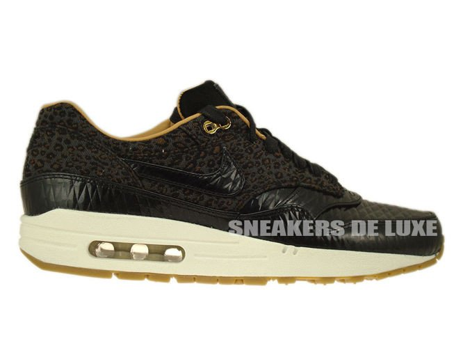 "Nike Air Max 1 FB Woven ""Leopard"" – Black & Metallic Gold"