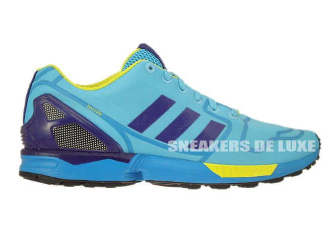 cc9e1d3a5 AF6303 adidas ZX Flux bright cyan   collegiate purple   bright yellow ...