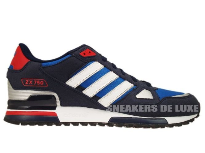 new styles 4ae9b d6af7 Adidas Originals ZX 750 Pool Blue White Silver Red G61242 ...