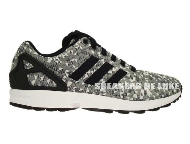 the best attitude 0200f c59cd B34472 adidas ZX Flux Weave White Core Black Solid Grey ...