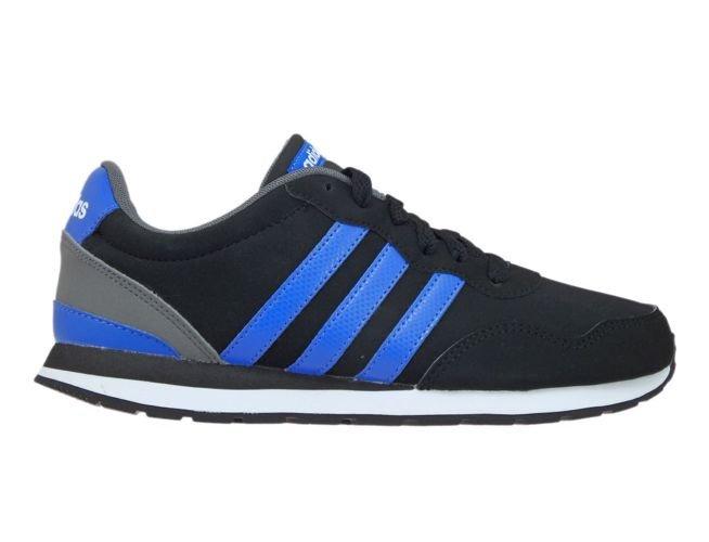 size 40 5a289 d3894 BC0081 adidas V JOG K Core Black Blue Ftwr White ...