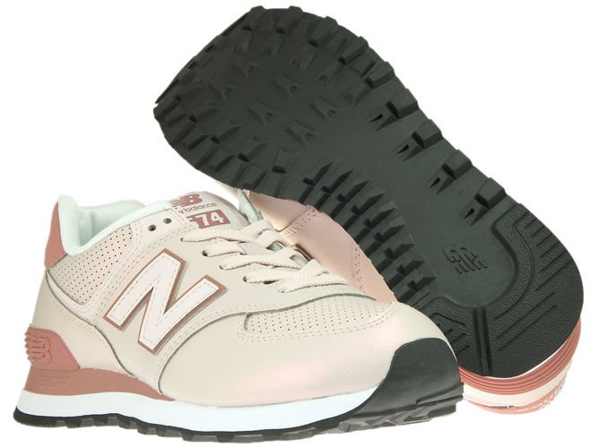 finest selection e58d0 22781 New Balance WL574KSE Sheen Conch Shell with Dark Oxide ...