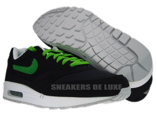 the latest 0ea5a 0af4f ... Nike Air Max 1 Black Victory Green-White-Red 308866-020 ...