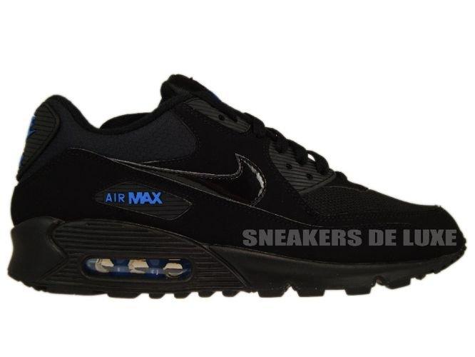 c2d4c8119b95 Nike Air Max 90 Black Black-Blue Spark 309299-906 309299-906 Nike ...