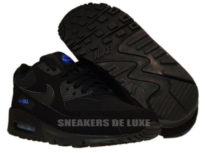 Nike Air Max 90 Black Black-Blue Spark 309299-906 309299-906 Nike ... 94b2136c966e
