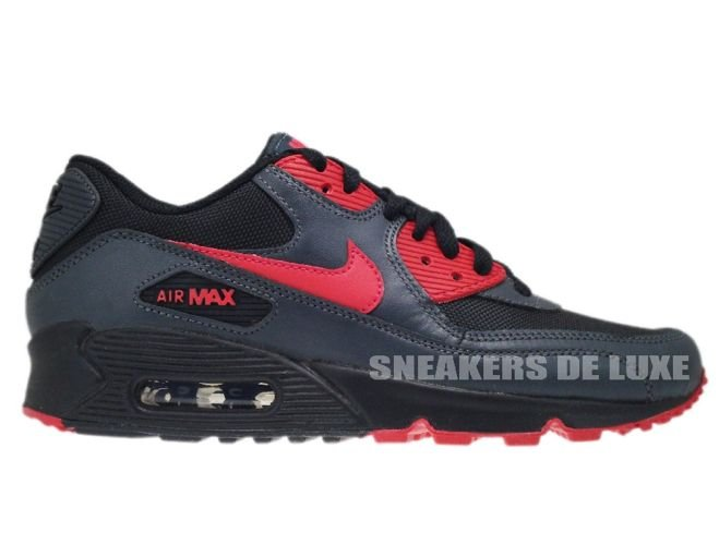 finest selection 6ff88 9b36c Nike Air Max 90 Black Siren Red-Anthracite 325213-020 ...
