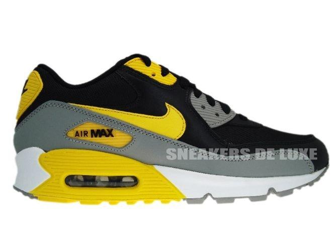 newest cb517 74750 Nike Air Max 90 Black Varsity Maize ...