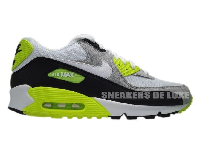 Nike Air Max 90 Black White-Medium Grey-Volt 325018-048 325018-048 ... 22ddd679e