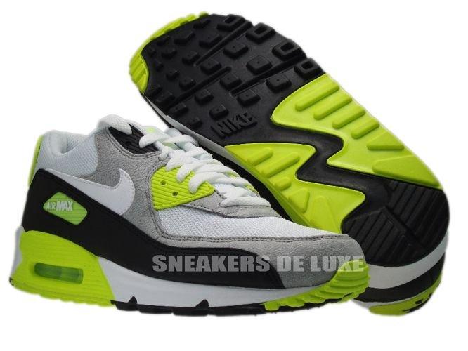 Nike Air Max 90 Leather – Black Grey – Volt | Airmaxy.pl
