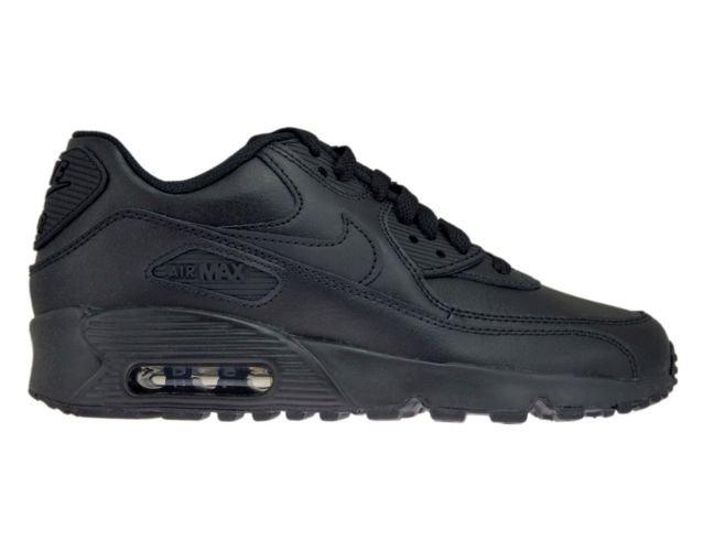 32709009b8 Nike Air Max 90 GS 833412-001 Leather Black/Black 833412-001 Nike ...