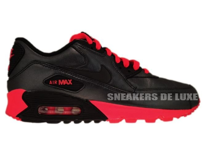 pick up db65e 0f6f2 Nike Air Max 90 Leather Black Black-Pink 325213-019 ...