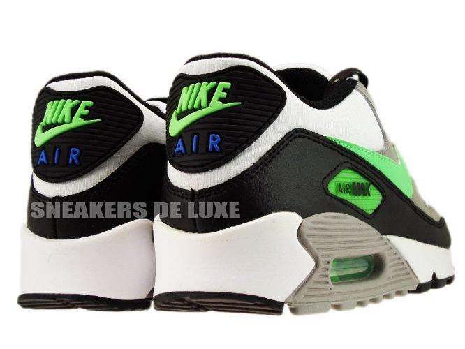 Nike Air Max 90 WhiteNeo Lime Medium Grey Black 306676 124