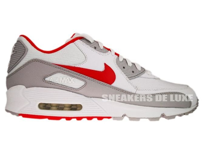 new arrival cff09 d3cb3 Nike Air Max 90 White Team Orange-Neutral Grey 309299-121 ...