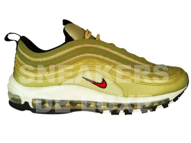 Nike Black And Gold Metallic Air Max 97 Sneakers | Black
