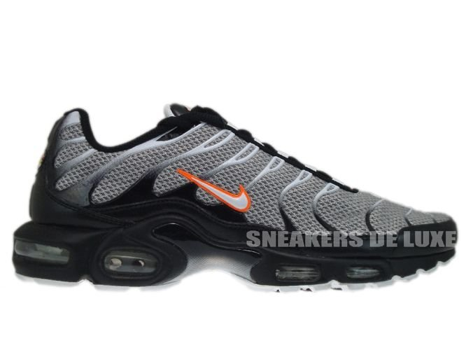 17f221118876 Nike Air Max Plus TN 1 White Total Orange-Black 604133-180 Nike   mens