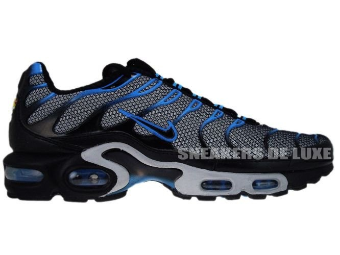 check out de898 71240 Nike Air Max Plus TN 1 Wolf Grey Black-Blue Glow ...