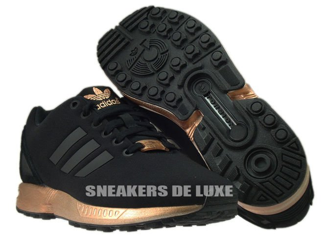 adidas zx flux w core black/copper metallic