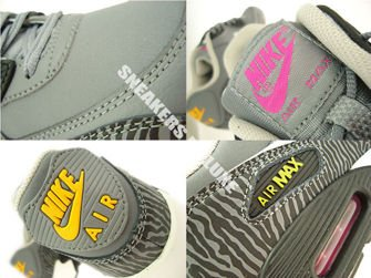 "307793-075 Nike Air Max 90 ""Zebra"" Cool Grey"
