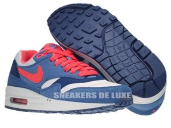 319986-022 Nike Air Max 1 Wolf Grey/ Sunburst-Utility Blue-Light M 319986-022