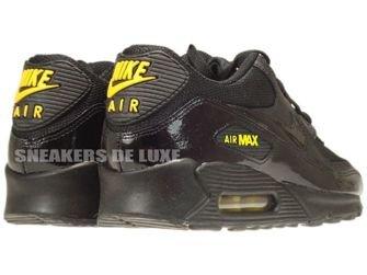 325018-056 Nike Air Max 90 Black/Black-Golden Sash
