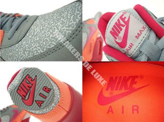 325213-034 Nike Air Max 90 Magnet Grey/Fuchsia Force-Bright Mango