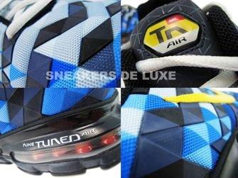 336155-471 Nike Tuned X 10 Skyfade Blue Spark/Tour Yellow-Black